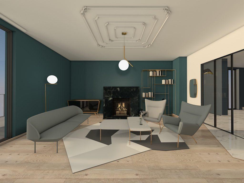 kolory w pomieszczeniach, Rama Studio